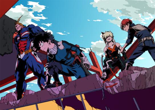 Новый постер четвёртого сезона аниме «Моя геройская академия»